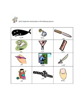 Silent Consonants and Vowel Sounds for 2nd grade
