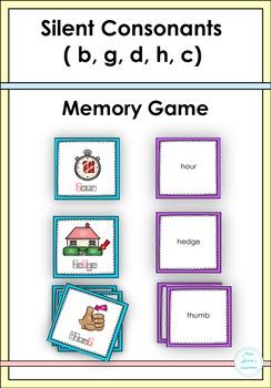 Silent Consonants ( b, g, d, c, h) Memory Game