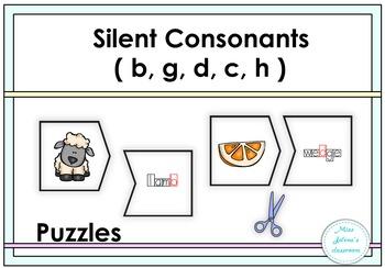 Silent Consonants ( b, g, d, c, h) Puzzles