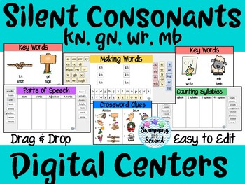 Silent Consonants (kn, gn, mb, wr) Digital Centers