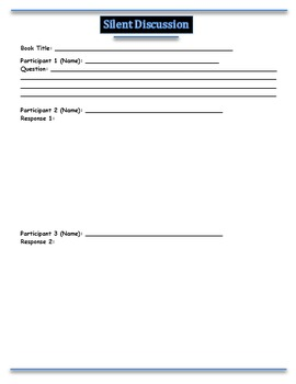 Silent Discussion Group Activity for Any Text - PowerPoint Instructions Included