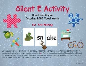 Silent E Activity