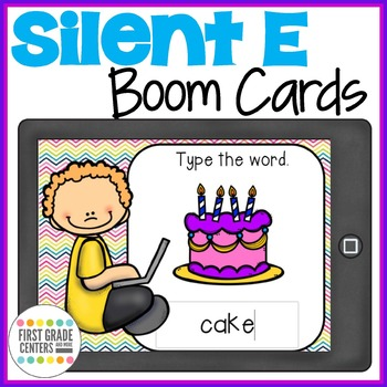 Silent E Boom Cards Type the Word