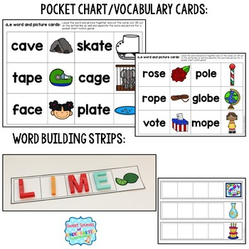 Silent E Centers {CVCE Centers and CVCE Worksheets and Printables}
