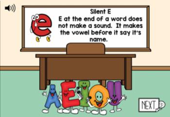 Silent E Digital Task Cards for VCE practice
