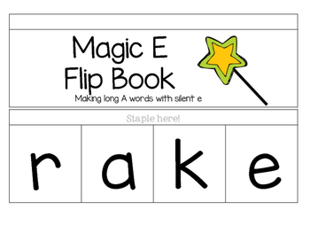 Silent E Flip Book and Make-A-Word Slides