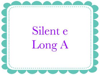Silent E Fluency Flashcards