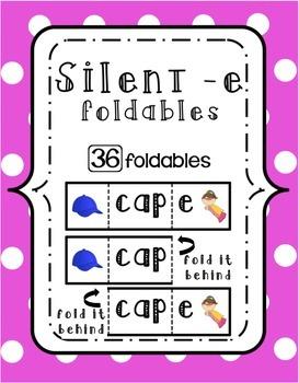 Bossy/Silent -E Foldables {Strips}