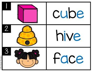 Silent E Literacy Center Activity