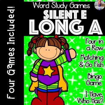 Silent E: Long A [[Word Family GAMES!]]