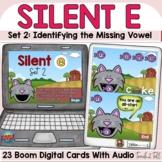 Silent E   Magic E   CVCe Words Digital Boom Cards Farm Theme