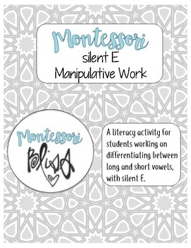 Silent E Manipulative Work