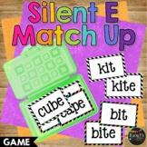 Silent E Match Up Reading Game Kindergarten First & Second Grade, Bossy E