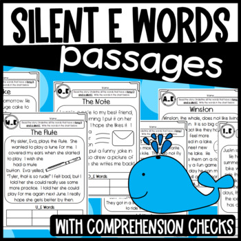 Silent E Passages by Designed by Danielle | Teachers Pay ...