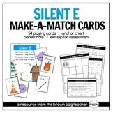 Silent E: Phonics Make-a-Match Cards