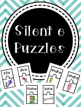Silent E Picture/ Word Puzzles