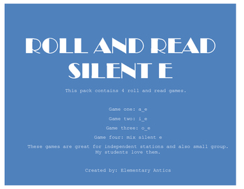 Silent E Roll and Read