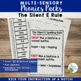 Orton-Gillingham Spelling Rule: Silent E Rule Multisensory Activities