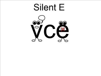 Silent E SMARTboard Interactive Flashcards