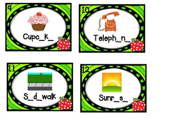 Silent E Scoot / Task Cards