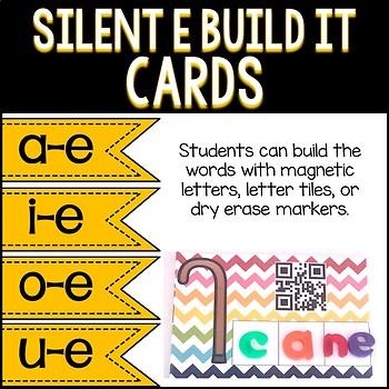 Silent E: Building Mats Activity
