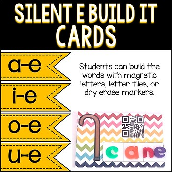 Silent E Word Mats with QR Codes