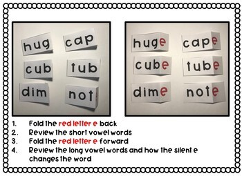 Silent E: Short and Long Vowel Sounds