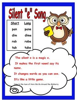 Silent E Song Poster