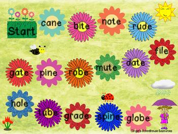 Silent E Springtime Board Game