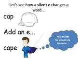 Silent E - Teaching Through  Interactive PowerPoint