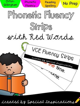Silent E (VCE) Fluency Strips Phonetically Controlled (Ort