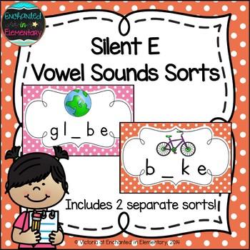 Silent E Vowel Sounds Sorts