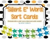 Silent E Word Sort Card Set