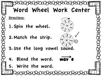Silent E Word Wheels FREEBIE