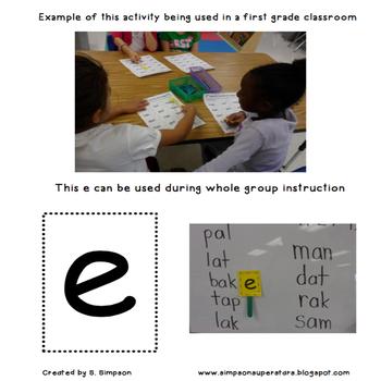 Silent E Writing Activity: Silent E Works Its Magic