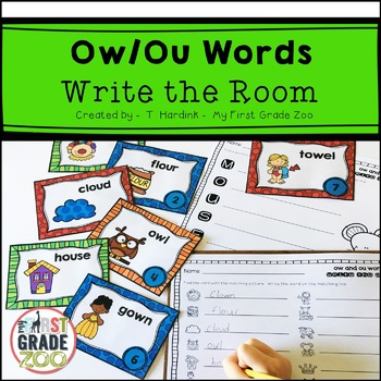 Ow and Ou Words - Write the Room