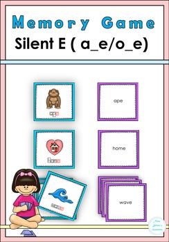 Silent E (a-e, o_e) Memory Game