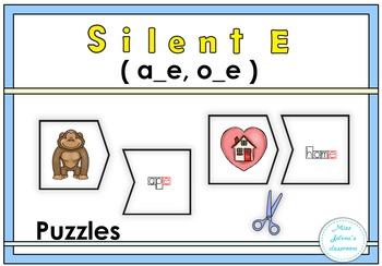Silent E (a-e, o_e) Puzzles
