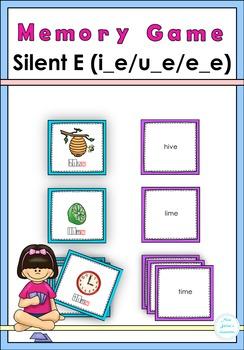 Silent E (i-e, u_e, e_e) Memory Game