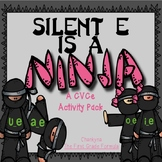 Silent E is a NINJA!  Long Vowel Silent E BUNDLE Games & Printables