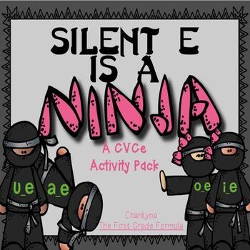Silent E is a NINJA!  Long Vowel Silent E BUNDLE Games & Printables