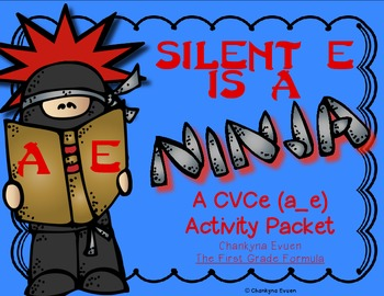 Silent E is a Ninja!  CVCe Long a (a_e)  Activity Pack