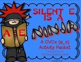 Silent E is a Ninja!  CVCe Long a (a_e)  Activity Pack