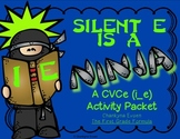 Silent E is a Ninja!  CVCe Long i (i_e)  Activity Pack