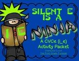 Silent E is a Ninja!  CVCe Long i (i_e)  Activity Pack