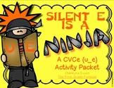 Silent E is a Ninja!  CVCe Long u (u_e)  Activity Pack
