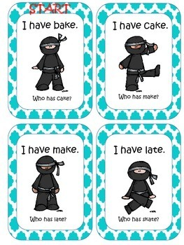 Silent E is a Ninja Making Silent E Words