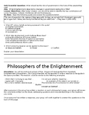 Silent Gallery Walk - Philosophers of the Enlightenment