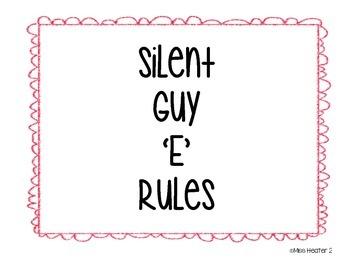 Silent Guy 'E' Rules
