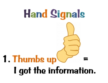 Silent Hand (Attention) Signals for Students (Posters)